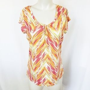 liz & co Petite Abstract pattern top Size PM